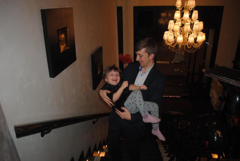 Владимир Алексеев и дочь
