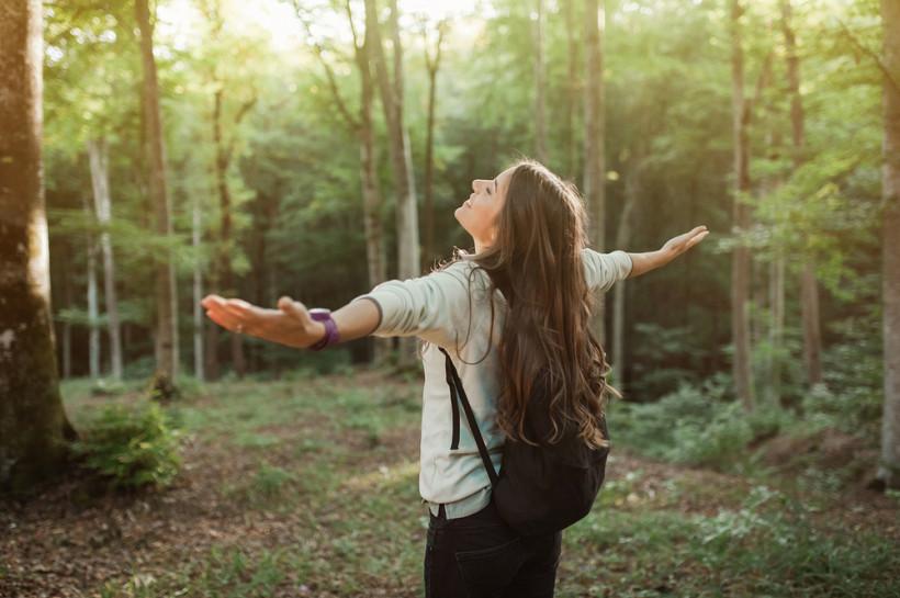 жінка природа