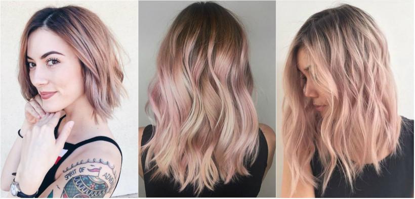 Розовое золото цвет волосы
