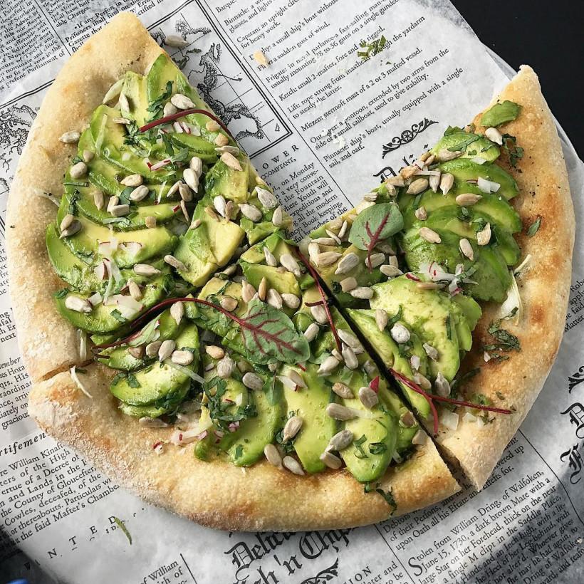 Пицца с авокадо