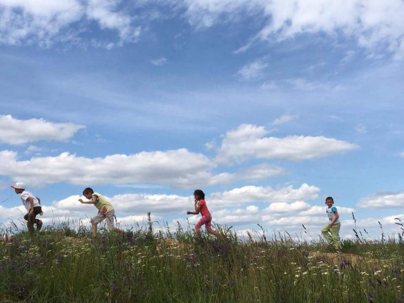Дети занимаются  в экошколе