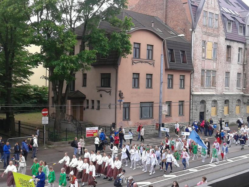 Эстонские дети на фестивале