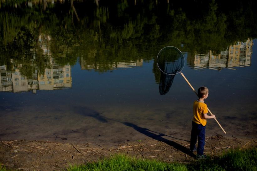 Артем на рыбалке