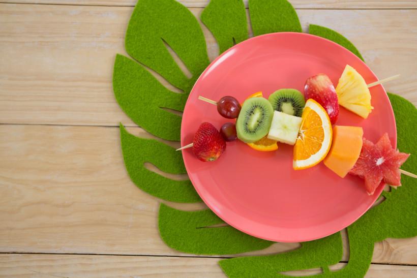 шашлык из фруктов