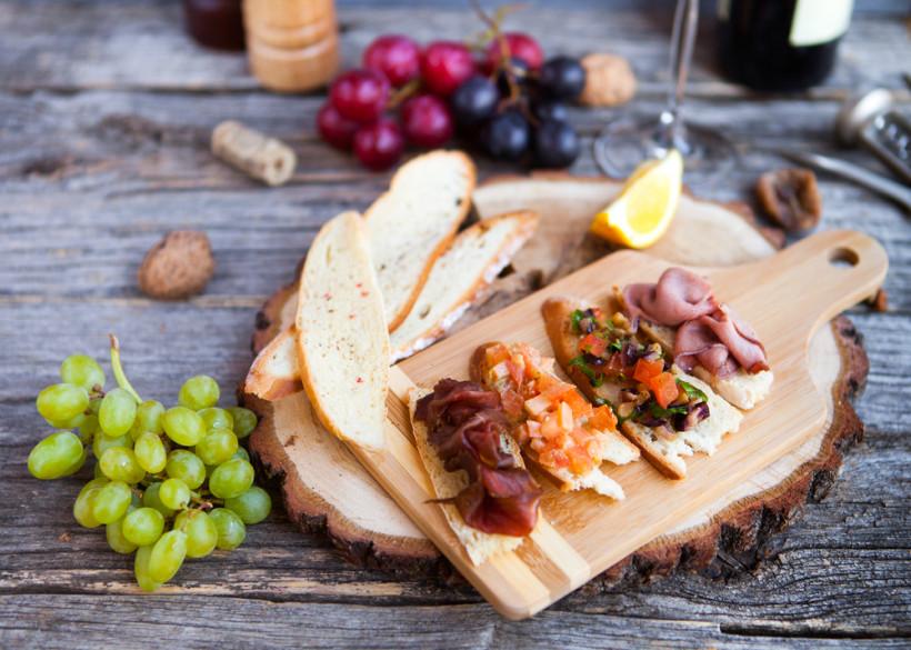 выноград и закуски к вину