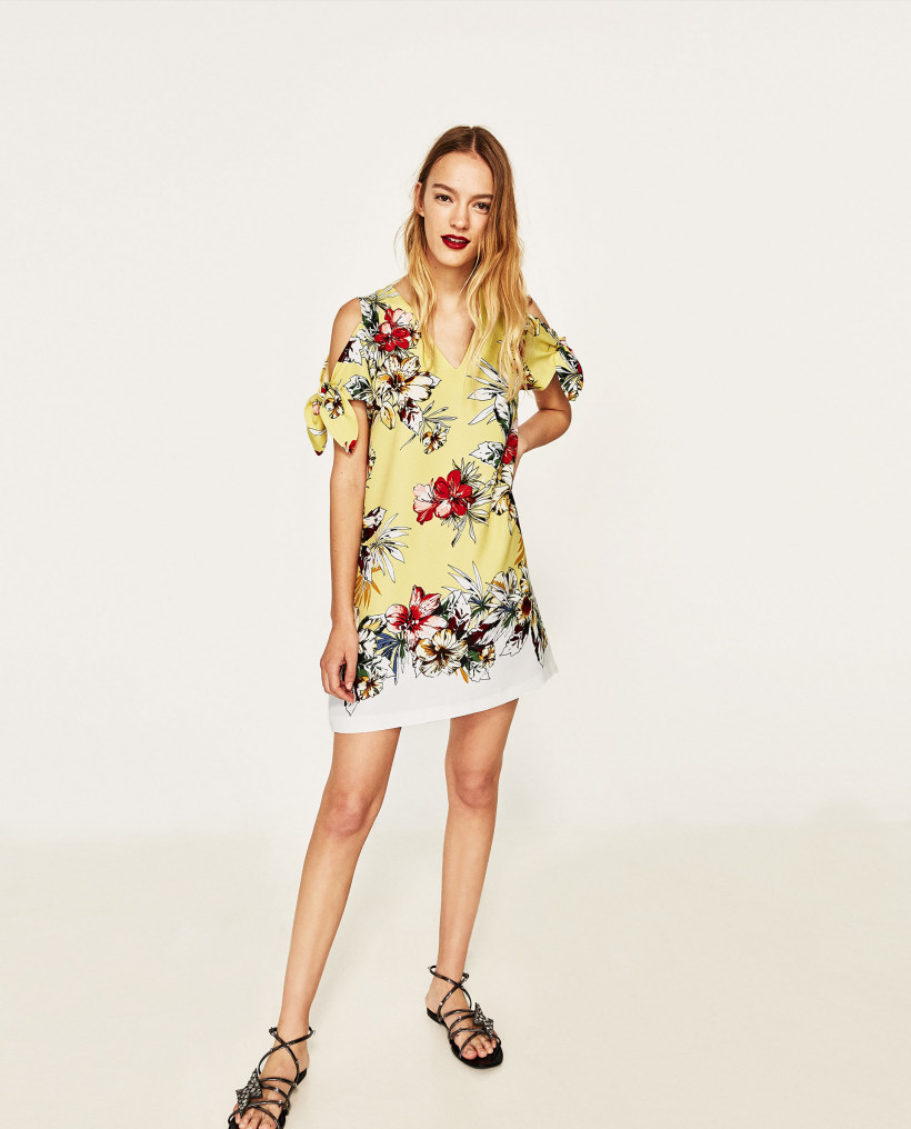 Плаття із квітковим принтом