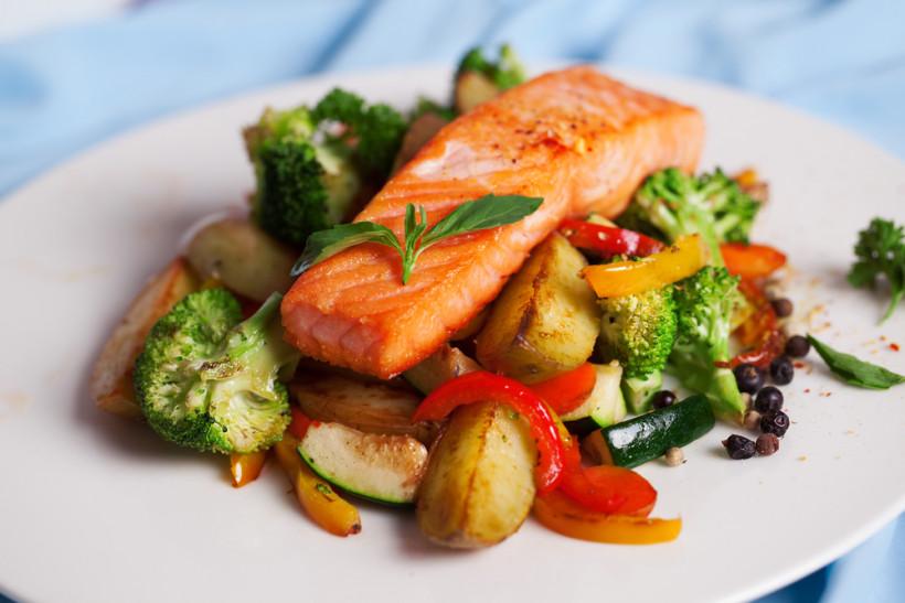 лосось блюдо