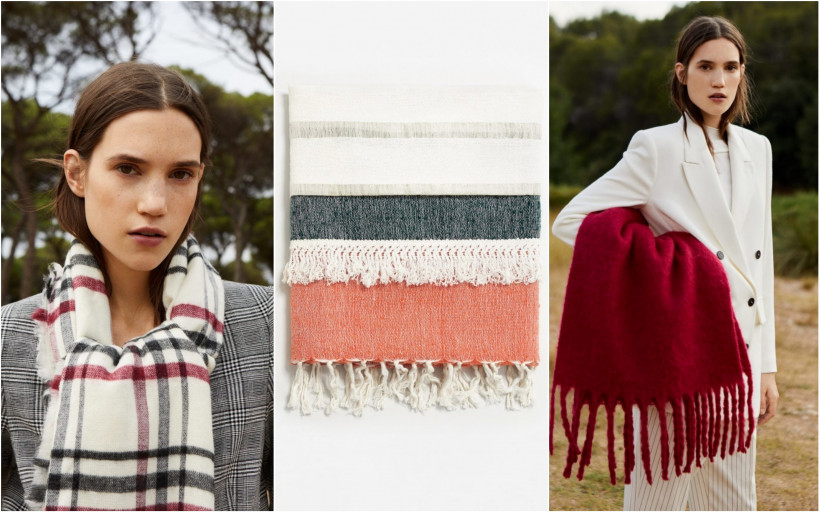 осенние шарфы
