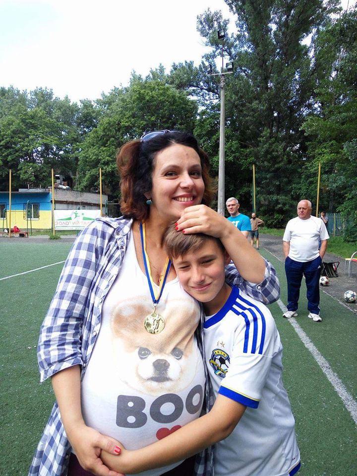 Анна Малицкая и сын