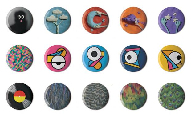 Значки на конкурс дизайна