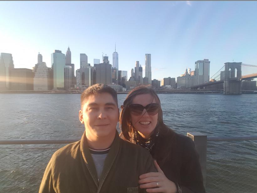Молодая пара из Украины в НЙ