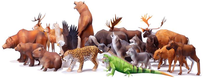 Бумажные животные