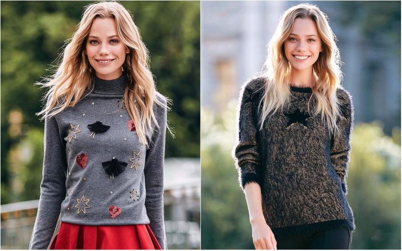 свитер с декором