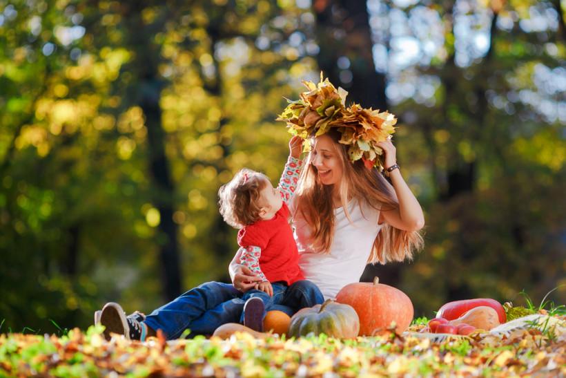 осень семья