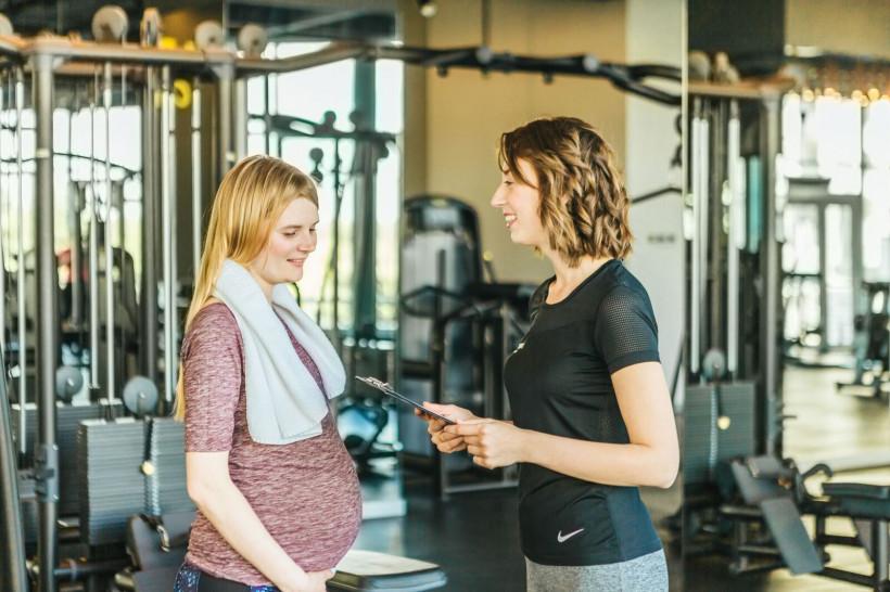 беременная тренировка