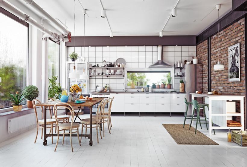 Кухні без верхніх ящиків