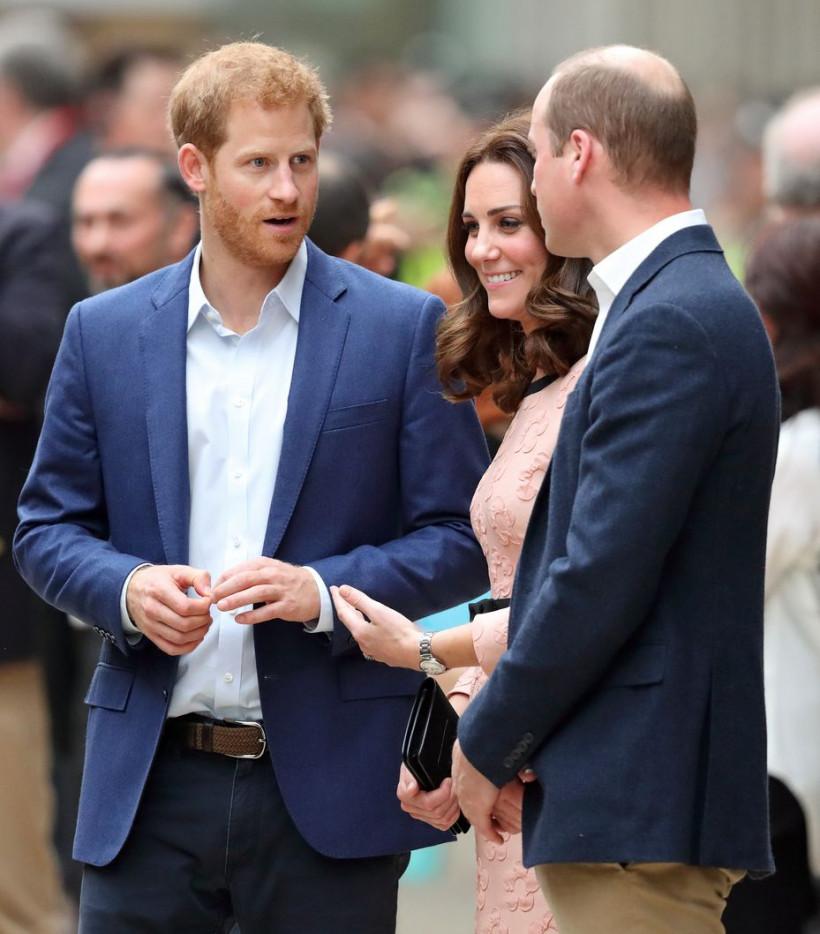 Кейт, принцы Уильям и Гарри