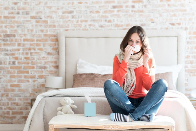женщина простуда