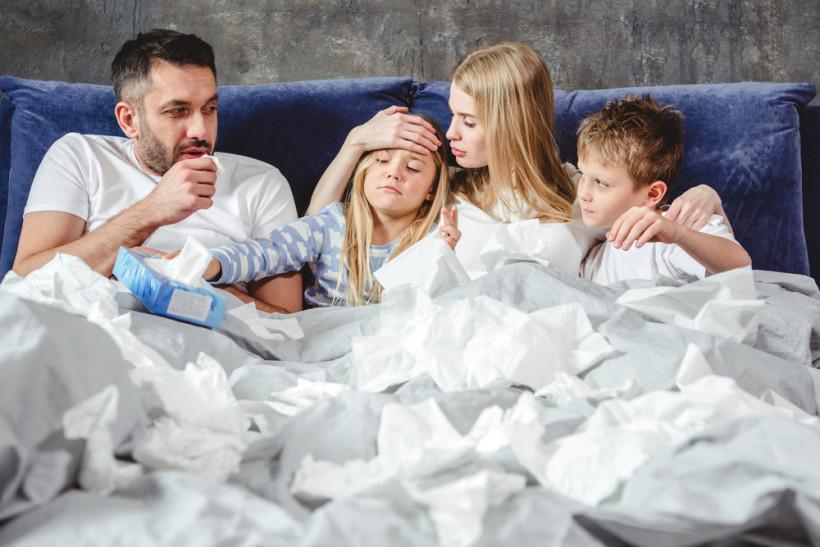 Семья болеет