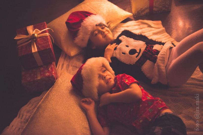Марина Довбыш, дети, фотосессия, новый год