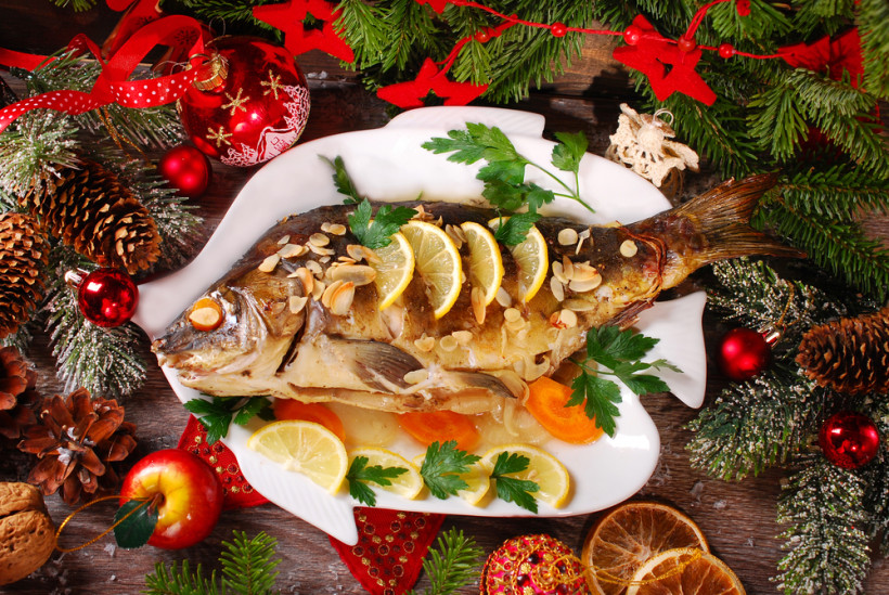 рождественский стол блюда