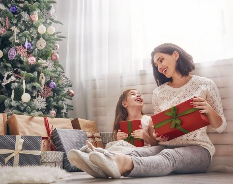 новый год 2018 мама с дочкой