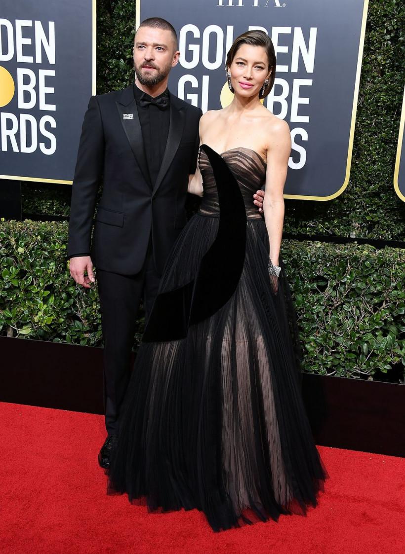 Джастин Тимберлейк с женой Джессикой Бил