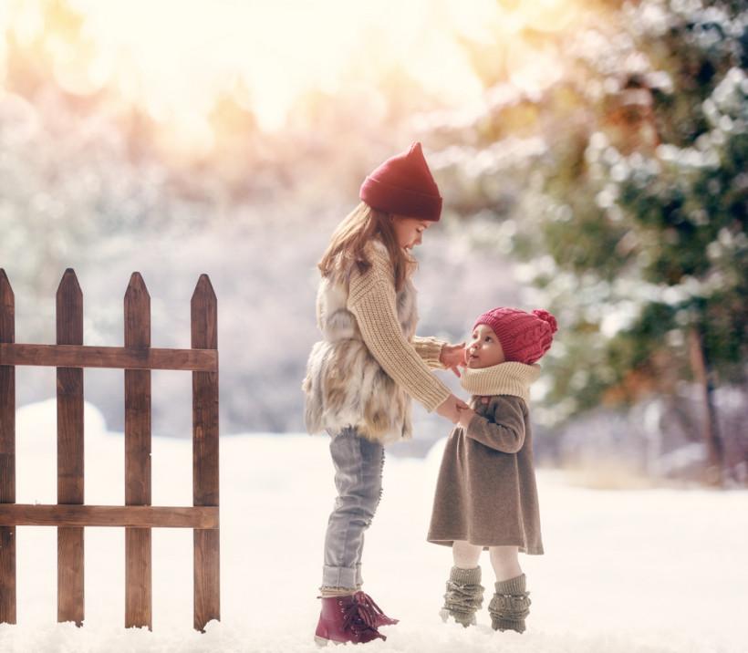діти зима