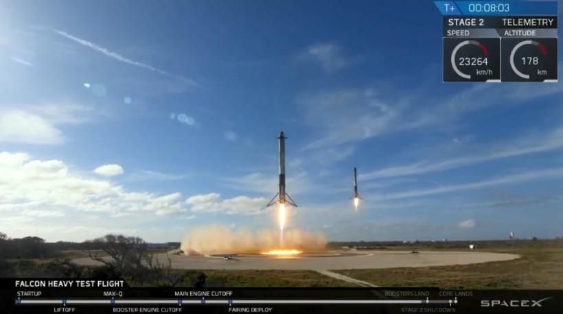 Фалькон Хэви - посадка ракет