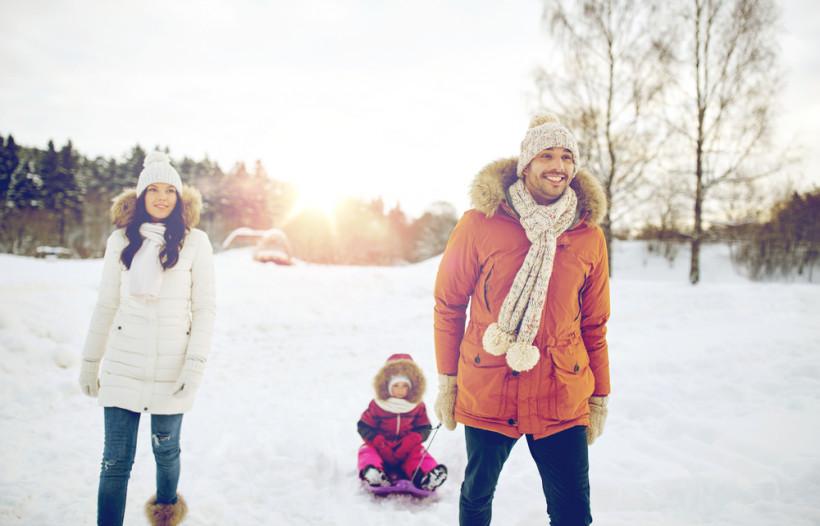 семья зима