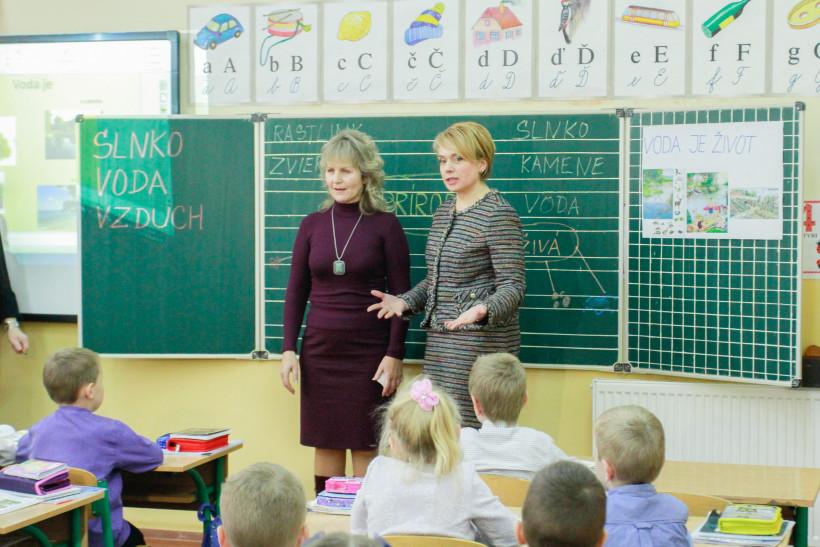 Лилия Гриневич в школе
