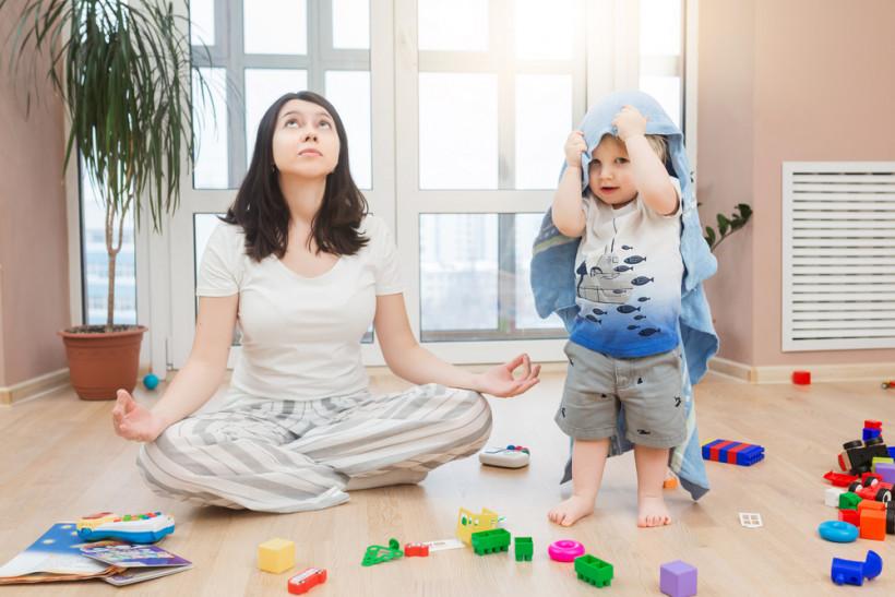 мама медитация  с ребенком