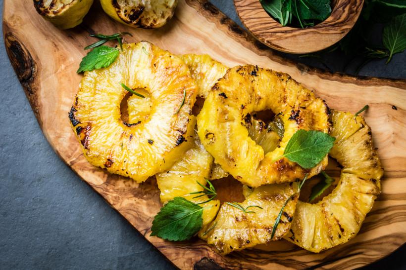 десерт из ананаса