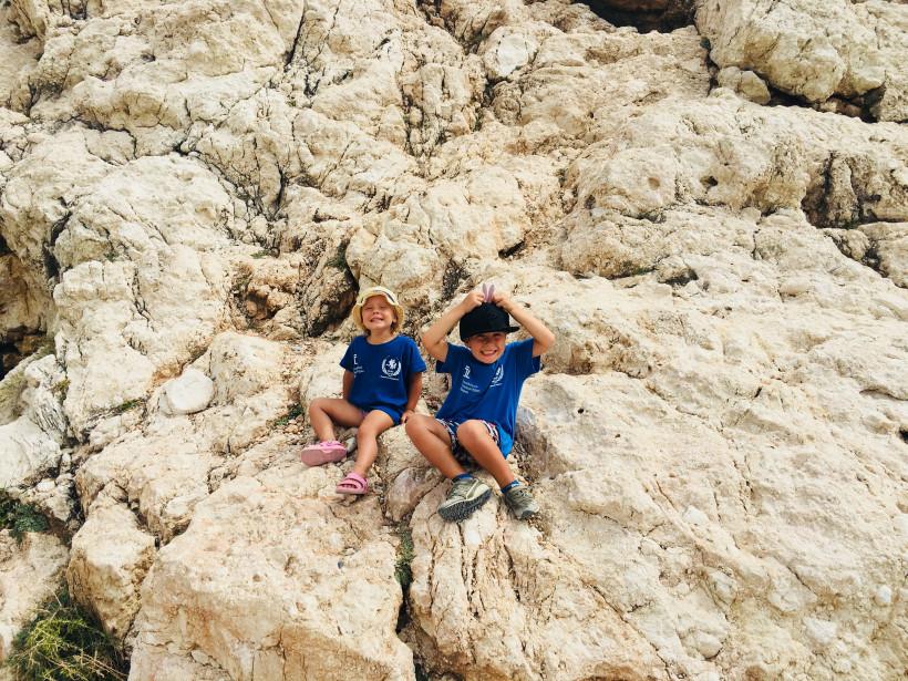 Дети на пляже Афродиты