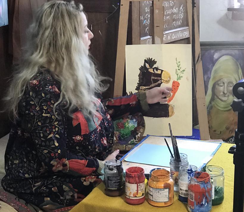 Ольга Адам уроки рисования для детей