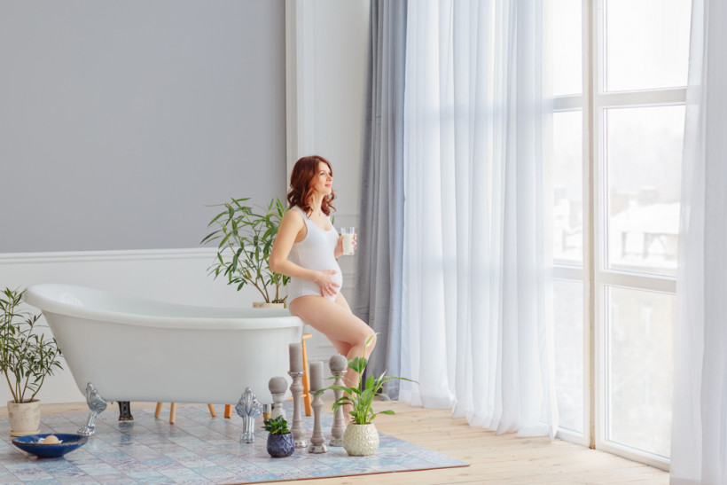 беременная в ванной