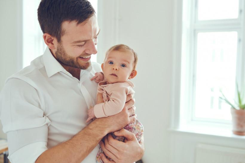 папа с малышом