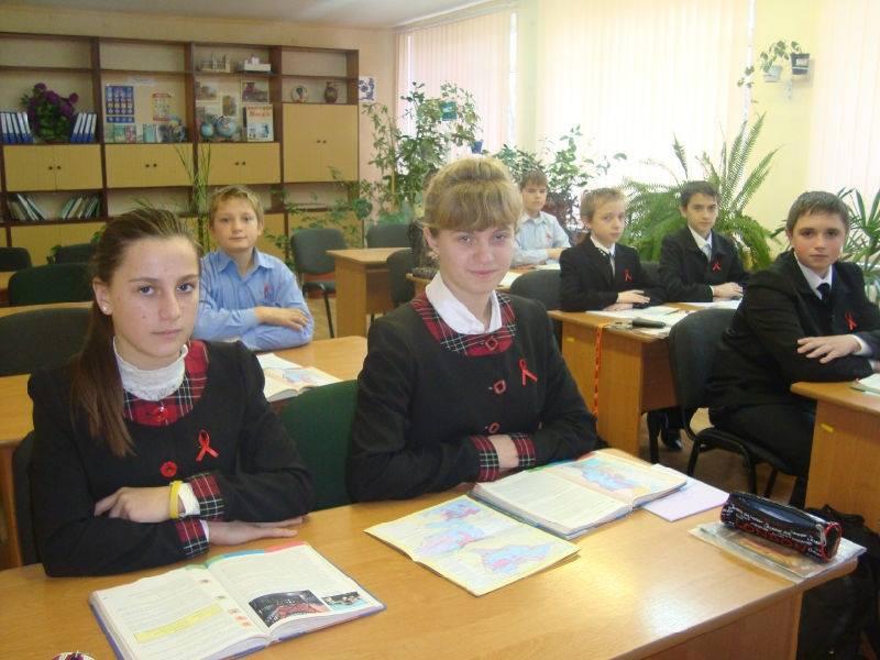 Школярі на Донеччині