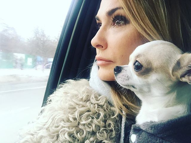 Собака Ольги Сумской и Ольга Сумская
