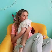 Брежнева и ее пес