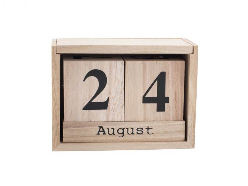 JYSK, календарь деревянный FERAH 6х13х9см
