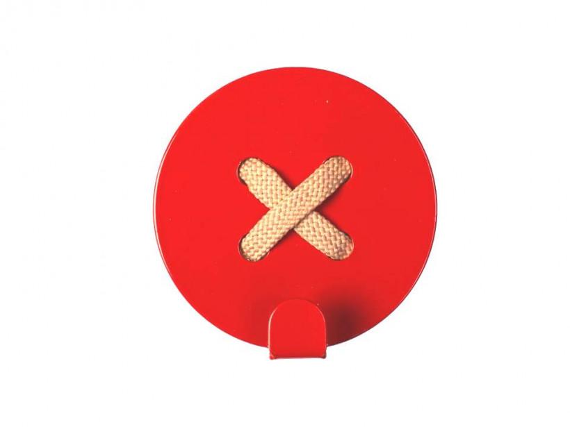 Glozis Button Orange, вішалка-гудзик настінна