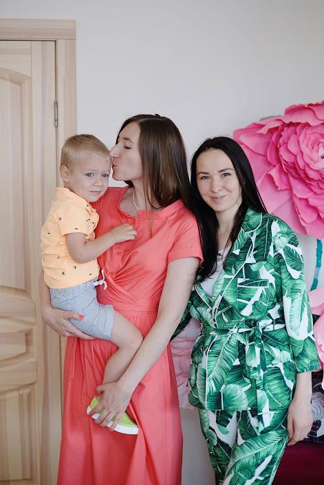 Алена Скорик и ее сын