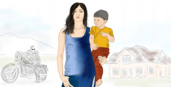 Рисунок мама и ребенок