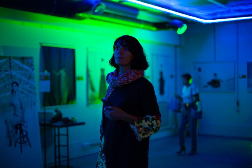 Оксана Шевченко на выставке о запретах
