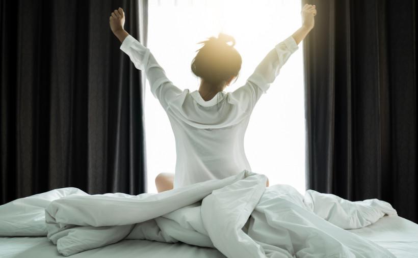 женщина утро