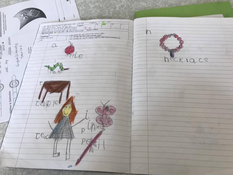 Тетрадка начальной школы Англии