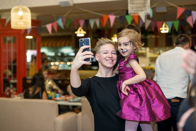 Кристина Шапран и дочь