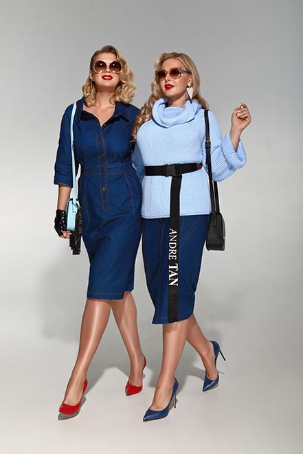 Девушки plus size в одежде от Андре Тан