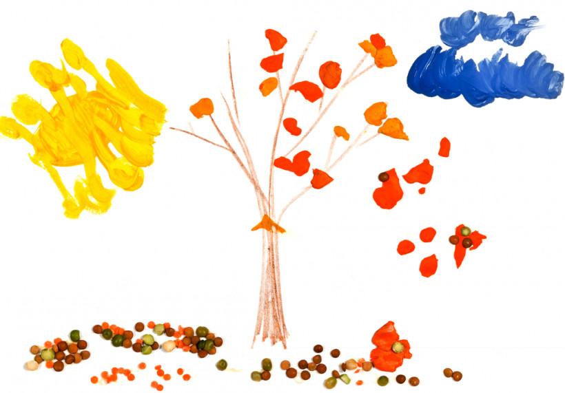 Детский рисунок осени